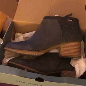 Toms boots Loren Forged Iron Grey Suede/Felt sz11